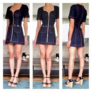 Alice McCall Dresses - Alice McCall Bloomsbury Denim Mini Dress